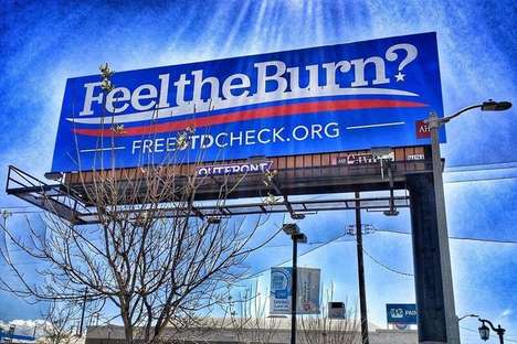Political Health Test Advertisements - The 'Feel the Burn?' Billboards Promote FreeSTDCheck.org