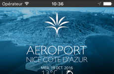 Beacon-Enabled Airport Apps - The 'Aéroport Nice' App Uses Beacons to Give Travelers Information