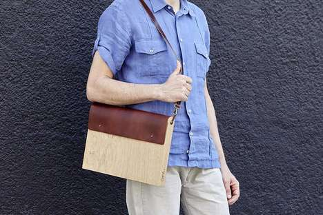 Elegant Oak Laptop Carriers