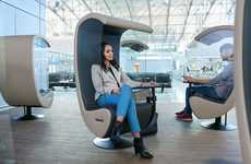 Noise-Cancelling Airport Loungers - The Frankfurt Airport's Silent Chairs Block Out Ambient Noise