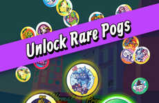 Digital Disc Games - The 'Super Slam - POGS Battle' App Revives a Nostalgic 90s Activity