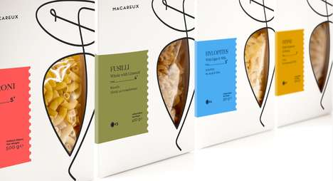 Minimalist Gourmet Pasta Branding - These Boxes Were Designed to Make Their Contents Look Luxurious