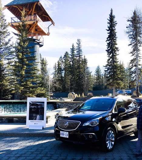 Luxury Estate Car Retreats - Trend Hunter Travels to Calgary to Test Drive the 2017 Buick Envision