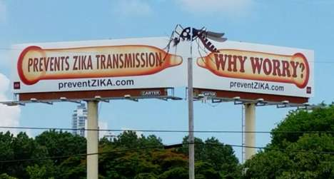 Virus Protection Billboards - These Miami Billboards Were Created in Response to the Rise in Zika