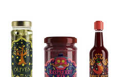 Illustrated Preserve Packaging - This Illustrated Packaging Gives Personality to the Food Products