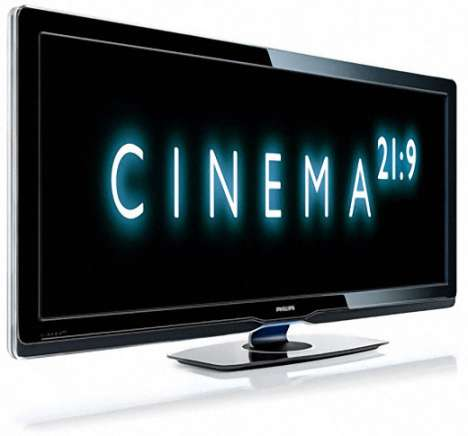 Double-Wide Home Televisions - Philips Cinema Announces 21:9 Widescreen TV