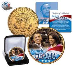 Barack Obama & Michelle Obama US Gold Half Dollar Coin