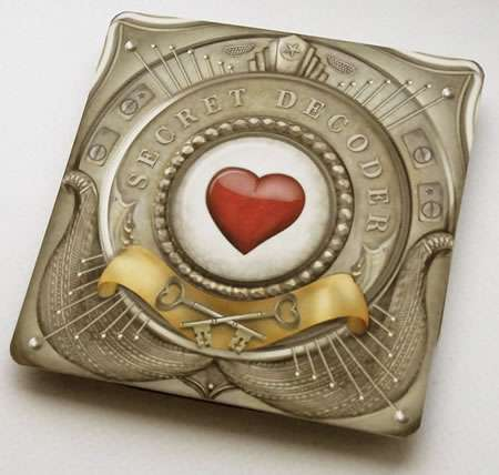 Valentine Popup Cards - The Secret Decoder Ring Unlocks the Secret Love Message