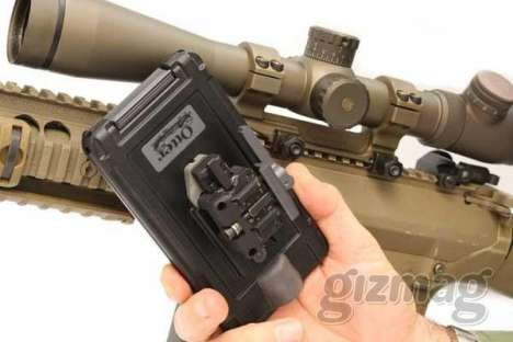 Ballistic Mobile Apps - This 'Bullet Fight' Military Sniper Rifle Mount is a True iPhone