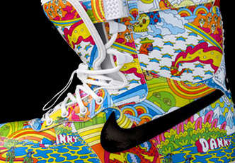 Psychedelic Snowboarding Boots