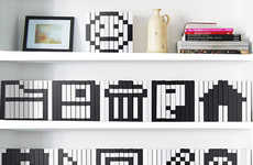 DIY Nerdy Decor - Turn Your Shelf Into a Pixelated Parade of Computer Icons