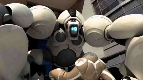 Cars & Robots Playing Tag