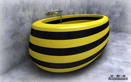 Bright Striped Bathtubs - 'Bath Tuning' Project Adds Fun and Color to Your Daily Routine