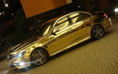 Dubai Boasts the Opulent, All-Gold Mercedes-Benz C63 AMG