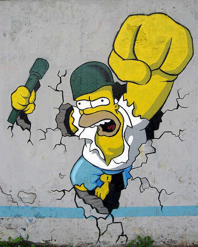 'The Simpsons' Street Art