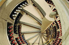 Spiral Wine Cellars - Trap Doors That Lead to a Bounty of Vino Are Perfect for Small Spaces