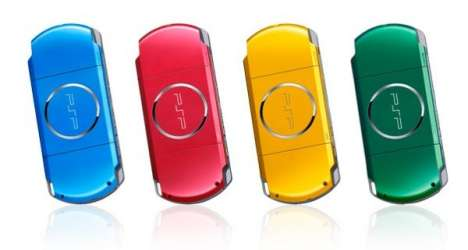 Carnival-Colored Gaming - Handheld Sony PSP Tastes The Rainbow With 4 New Colours