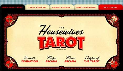 Retro Fortune Telling - 'The Housewive's Tarot' Encourages Drinking While You Interact