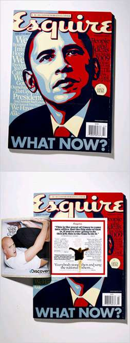 Esquire Magazine's Obama Cover Opens To Show Ads