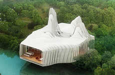 Eco Transformer Architecture - 'Bird Island' Prefab Homes For Waterfronts in Kuala Lumpur