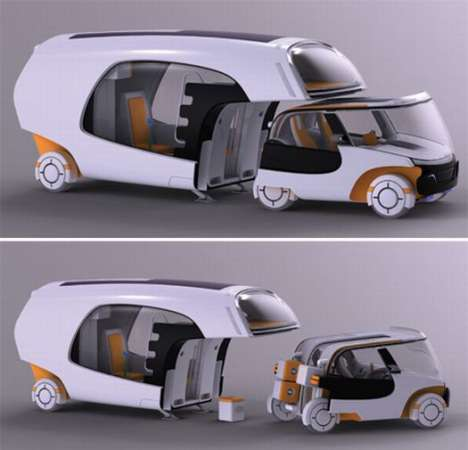 Car-Caravan Hybrids - COLIM Features Detachable City Auto for Sightseeing