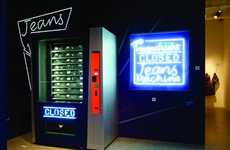 Denim Vending Machines - Buying Designer Jeans Just Got As Easy As Buying a Soda