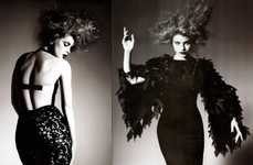 Gothic Couture - Jessica Stam Becomes 'Magie Noir' in Numero 99