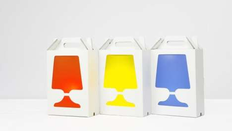 Cardboard Box Lamps - 'Flamp' Is A Fashion Lamp That Lets You Customize Its Colors