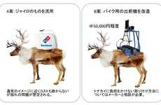 Reindeer Pizza Deliveries - In Japan, Domino's Pizza Delivery is Being Offered with Santa's Fleet