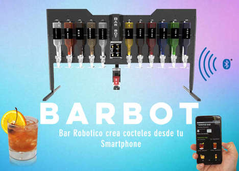 Libation-Mixing Robotic Bars