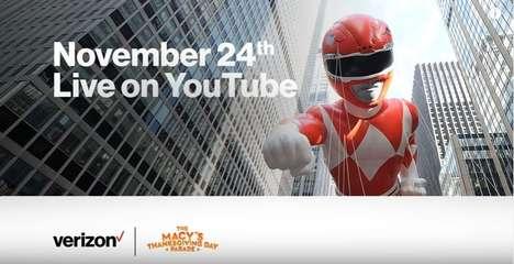 Immersive Thanksgiving Parade Videos