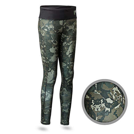 Cat Camouflage Leggings - 'Cat Attack Athletic Leggings' Feature Cats Hidden in the Camouflage Print