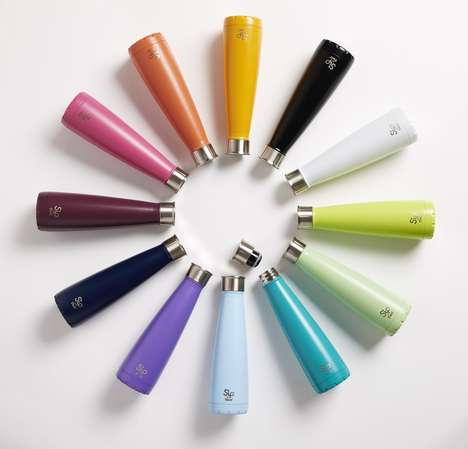 Cone-Shaped Water Bottles