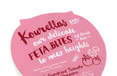 Flavorful Feta Cups - Kourellas' Feta Cheese Snacks Come in Seven Seasoned Varieties