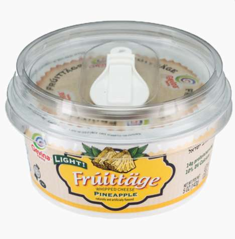 Fruity Cottage Cheese Cups - Gevina's 'Fruittage' Products Blend Fruit with Whipped Cheese