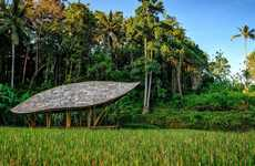 Turtle Shell Yoga Pavilions - IBUKU's Yoga Pavilion Connects People with Nature