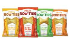 Savory Baked Pasta Chips - The Pasta Bow Tie Snack Chips are a Healthier Snack Alternative