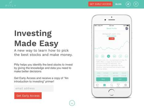 Stock Investment Education Apps - The 'Pitly' App Provides Lessons and Simulations for Beginners