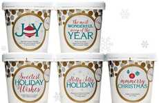 "Festive Ice Cream Tubs - eCreamery's Festive Holiday Desserts are Branded as ""Santa's Stash"""