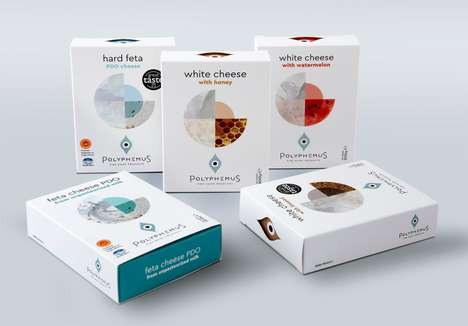 Greek Mythology Dairy Branding - The Polyphemus Greek Cheeses Have Unexpected Flavor Profiles