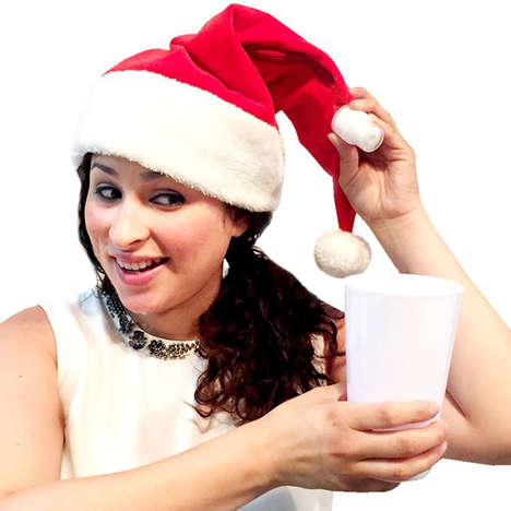 Festive Holiday Hat Flasks