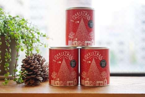 Wintry Holiday Coffee Tins