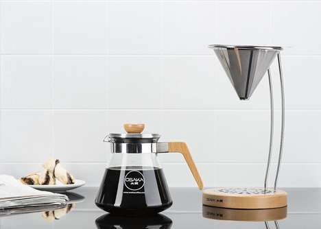 Steel Filter Coffee Brewers - The Osaka Pour-Over Coffee Dripper is Crafted to Create Pure Brews