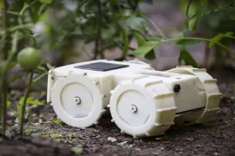 Weed-Whacking Robots - The 'Tertill' Solar-Powered Robot Detects and Removes Garden Weeds