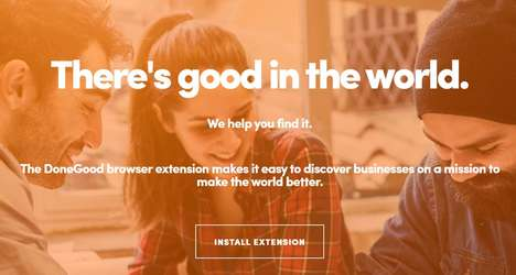 Ethically Attuned Shopping Extensions - DoneGood Automatically Offers Ethical Shopping Alternatives