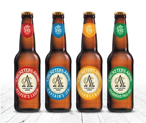 Cricket-Inspired Beer Branding