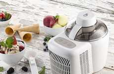 Automated Ice Cream Machines - The Gourmia Automatic Ice Cream Maker Requires No Prior Freezing