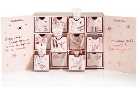 Miniature Beauty Advent Calendars - Charlotte Tilbury's Cosmetics are Packaged in this Calendar
