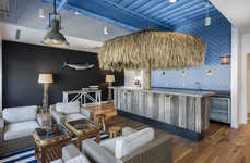 Beachy Office Interiors - The Clothing Company 'Vineyard Vine' Has a Seaside-Themed Office Space