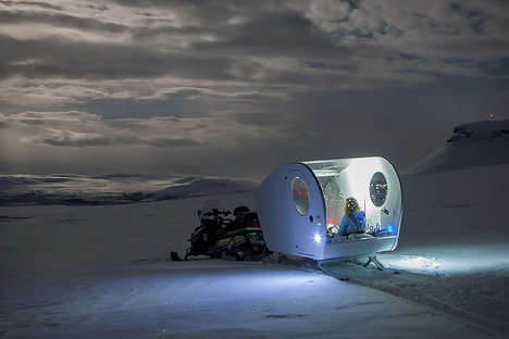 Finnish Sledding Excursions - The Aurora Bubble Winter Sled Provides Views of the Northern Lights